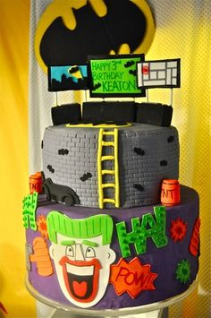 "Photo 12 of 24: Super Heroes / Birthday ""Keaton's 3rd Birthday--Holy Batman!"" | Catch My Party"