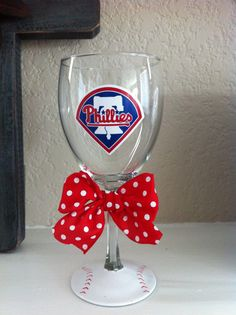 Phillies wine glass $15     http://www.etsy.com/listing/99313866/phillies-wine-glass    Made by Taylor B