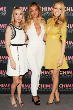 Gucci Chime for Change. Frida Giannini, Beyonce and Blake Lively