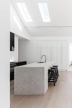Urban Interior Design, Apartment Interior Design, Interior Design Kitchen, Apartment Kitchen, Home Decor Kitchen, Home Kitchens, Modern Kitchens, Kitchen Ideas, Minimalist House Design
