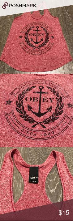 080af734163 Obey clothing racerback tank top Obey clothing racerback tank top. Very  comfortable and lightweight.