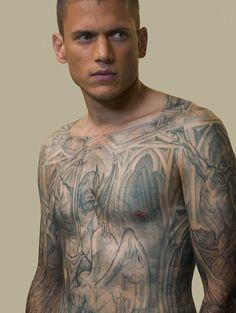 Guy from Prison Break, Wentworth Miller Michael Scofield, Wentworth Miller Prison Break, Michael And Sara, Broken Tattoo, Dominic Purcell, Stephen James, Smosh, Channing Tatum, Film Serie