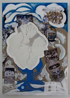 "<<FRUKTIG>> ""Vinter"", Techniques mixtes sur toile, 50x70 cm, Karianne B. 2014  TELLusVISION #14 : FRUKTIG on Behance by Karianne B. -studio-TELLusVISION-"