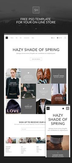 eCommerce Theme PSD for Clothing Store on Web Design Served