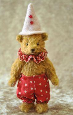 Patrickminiature+teddy+bear+artist+by+Junko+by+JunJunLittleBear,+$140.00