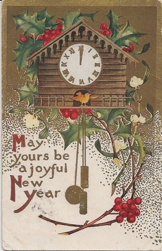 Joyful New Year...  - vintage new year