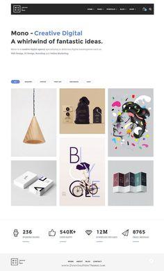 Mono is creative responsive premium WordPress #Theme for multipurpose #website. #portfolio Download Now!