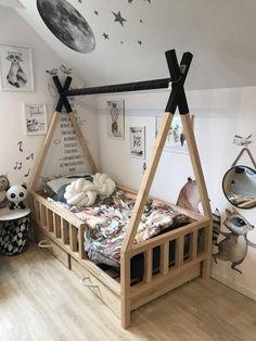 ŁÓŻKO TIPI BED - Scandi Room #DecoracionCuartoCama #BED #DecoracionCuartoCama #ŁÓŻKO #Room #Scandi #TIPI
