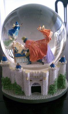 Sleeping Beauty Water Globe Music Box -- Beautiful!