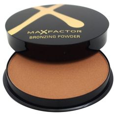 Max Factor Bronzing Powder - No 01 (£7.58) ❤ liked on Polyvore featuring beauty products, makeup, cheek makeup, cheek bronzer, gold and max factor