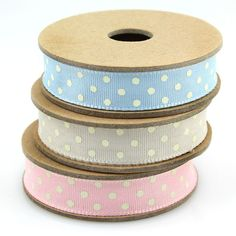 Polka dot ribbon ~ sweet pastels!