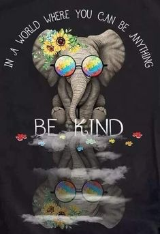 In A World When You Can Be Anything Be Kind: Funny Elephant Theme Motivational Quote 120 College Ruled Pages Composition Notebook /Personal . Planner / Notepad / Gift For Autism Awareness Elephant Quotes, Funny Elephant, Elephant Theme, Elephant Love, Elephant Art, Quotes About Elephants, Elephant Spirit Animal, Elephant Stuff, Kindness Matters