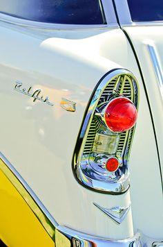 1956 Chevrolet Beliar Nomad Taillight Emblem by Jill Reger
