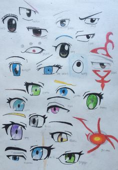 Fairy tail and RWBY eyes