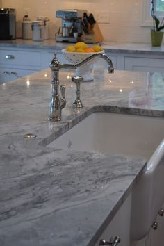 #quartz is a clean and sturdy alternative to marble that is much easier to upkeep in your home.