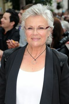 Julie Walters is an idol of mine, both for her beautiful silver hair and her portrayal of Molly Weasley (my fictional idol). I actually think I could pull off this style as we have similarly shaped faces.  17 Silver Vixens Who Will Have You Canceling Your Next Dye Job #refinery29