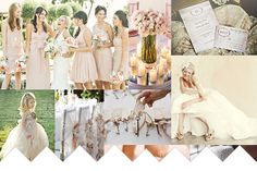 Very soft and romantic! This could be a beautiful wedding scheme