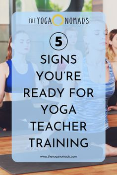 Yoga Teacher Training could change your life. Read these 5 signs to see if you're ready for teacher training. Yoga For Kids, Kid Yoga, Partner Yoga, Yoga Breathing, Travel Yoga Mat, Yoga Music, Relaxing Yoga, Relaxation Techniques, Yoga Teacher Training