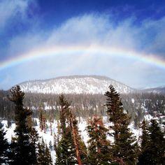 Rainbow Over Mammoth Mountain. #rainbow #mammoth #mammothmountain