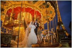 Wedding carousel in Paris