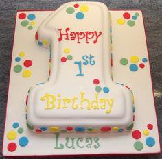 Noddy Themed Number 1 Teddy Bear Cake Iggle Piggle cakepins.com