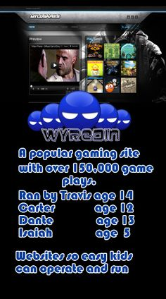 A 5 year old helps run this gaming website, That means anyone can have a great site and its free until the first