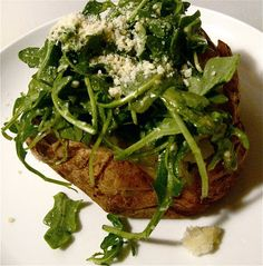 KITCHEN FIDDLER : Arugula-Stuffed Baked Potatoes
