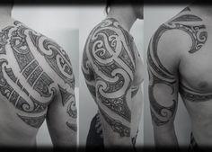 Custom-New-Zealand-Maori-Ta-Moko-Kirituhi-Pacific-Tribal-Half-Sleeve-with-Chest-and-Full-Shoulder-Blade-Tattoo-Design_tattoo-gallery-620x430-600x430.jpg (600×430)
