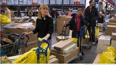 Russians flock to stores to pre-empt price rises Ikea Billy, Flocking, Paper Shopping Bag, Baby Strollers, At Least, How To Make, Billy Bookcases, Broken Relationships, Current Events