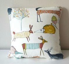Baby Pillows, Kids Pillows, Animal Pillows, Throw Pillows, Forest Animals, Pet Portraits, Babyshower, Boys, Girls