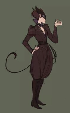 Simple and lovely steampunk Catwoman. I like this.