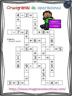 Crucigramas de operaciones sencillas - Imagenes Educativas MATHEMATIC HISTORY Mathematics is among the oldest sciences Kids Math Worksheets, Maths Puzzles, Activities For Kids, 1st Grade Math, Kindergarten Math, Math For Kids, Kids Education, Mathematics, Homeschool