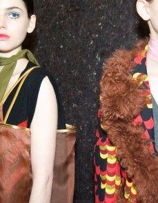 Milan Fall/Winter 2014 Backstage at Prada Photography by Mara Corsino