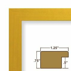 "09x35 Custom Picture Frame / Poster Frame 1.25"" Wide Complete Yellow Colori Smooth Frame (26027). This frame is manufactured in the USA, using the best materials and tools available. Our frames larger than 12x18 inches include styrene facing (acrylic upgrade is available), a rigid cardboard backing and hanging hardware. Some assembly is required to attach the hanging hardware to the frame. Hanging hardware includes: (1) 1"" Nail, (1) 30# capacity Wall Hanger, (1) 9'6"" length of Hanging Wire…"