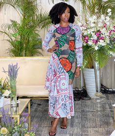 Simple A-line Gown Ankara Wedding Styles, Ankara Gown Styles, Beautiful Ankara Styles, Trendy Ankara Styles, African Dresses For Women, African Fashion Dresses, Fashion Outfits, Church Fashion, Nice Dresses