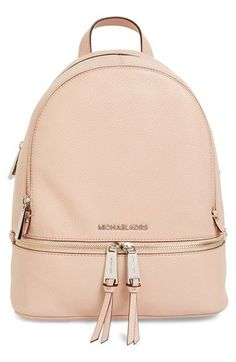 For my European adventures!! MICHAEL Michael Kors 'Small Rhea Zip' Leather Backpack available at #Nordstrom