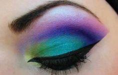 peacock eye make up Make Up Looks, Beautiful Eye Makeup, Beautiful Eyes, Unique Makeup, Glamorous Makeup, Pretty Eyes, Blue Eye Makeup, Hair Makeup, Peacock Makeup