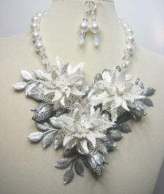 Winter Wonderland  Swarovski Pearl and Crystal by zoeJaneJewels1, $175.00