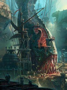 Runtera Maps – Universum – League of Legends – City Illustration Dark Fantasy Art, Fantasy Artwork, Fantasy Concept Art, Fantasy Art Landscapes, Fantasy City, Fantasy Places, Fantasy Landscape, Fantasy World, Dark Art