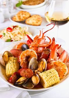 Seafood! A Southern boil, we used to have these all the time when I lived in New Orleans.