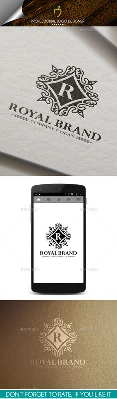 Royal Brand Crest Logo Template #design Download: http://graphicriver.net/item/royal-brand-crest-logo/9992083?ref=ksioks