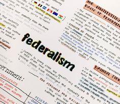 """studywithnoelle: """"11.03.16 // Federalism mind map & test next week! """""""