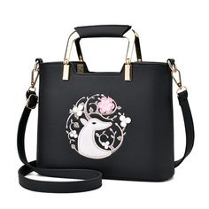 2017 New Embroidery Flowers Women Handbag High Quality PU Leather Lady Design Shoulder Crossbody Bag women's Purse Female Bag  #Affiliate
