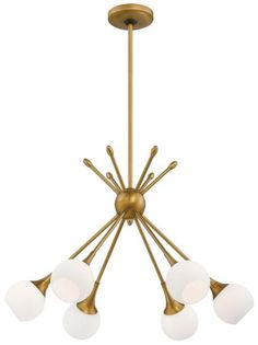 George Kovacs P1806-248 6 Light Chandelier $240