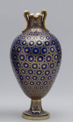 Sevres 1763 Oviform Vase (Vase à oreilles nouveau) soft-paste porcelain  (Ceramics)