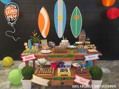 Organize sem Frescuras!: Surf Party: Aniversário de 1 ano criativo e gastando pouco