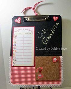 Blackboard Clipboard by debbiemom23cs - Cards and Paper Crafts at Splitcoaststampers