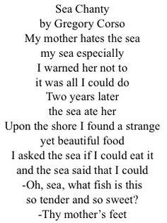 Sea Chanty || Poem by Gregory Corso