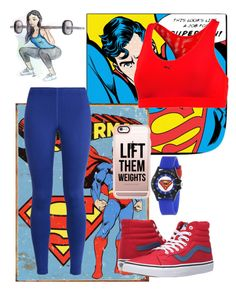 """""""Superman"""" by zmills151 on Polyvore featuring NIKE, Puma, Vans and Casetify"""