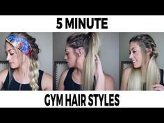 QUESTION OF THE DAY: Which one of these three hairstyles is your favorite? Today I am showing you 3 hairstyles that are perfect for the gym or an ac. 5 Minute Hairstyles, Workout Hairstyles, Cute Hairstyles, Hairstyle Ideas, Hair Care Tips, About Hair, Hair Styles, Beauty, Fashion